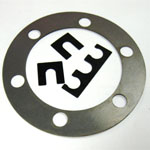 Low Carbon Steel Shims / Rings - Slotted, Multiple slots, ID / OD with Bolt Holes