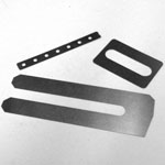 Stainless Steel Shims - Slotted, Internal Slot, Small Holes