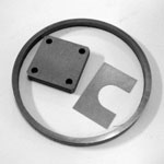 Stainless Steel Shims - Thin Wall, Small Holes, Slotted, Close Tolerance.
